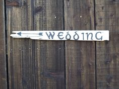 Celtic or Renaissance Driftwood Wedding Sign by SimmonsRanch. $28.00 USD, via Etsy.