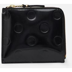 Comme des Garcons Polka-Dot Embossed Go Out Wallet ($172) ❤ liked on Polyvore