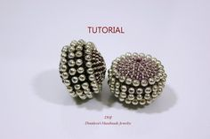 Peyote Beaded Bead Tutorial, Instructions, Peyote Pattern, 30 mm Size To Cover Wooden Beads Beaded Beads, Beaded Jewelry Patterns, Jewelry Making Tutorials, Beading Tutorials, Peyote Patterns, Beading Patterns, Peyote Beading, How To Make Beads, Lampwork Beads
