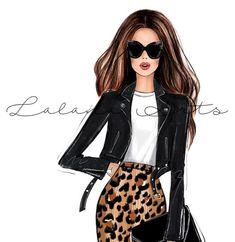 Girly Bedroom Decor, Girl Decor, Fashion Wall Art, Fashion Prints, Dress Illustration, Illustration Fashion, Fashion Clipart, Leopard Print Skirt, Fashion Sketches