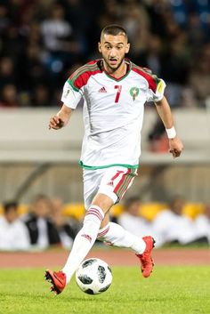 Hakim Ziyech of Morocco during the international friendly match between Morocco and Uzbekistan at the Stade Mohammed V on March 2018 in Casablanca, Morocco Stock Pictures, Stock Photos, Still Image, Casablanca Morocco, Moroccan, Sports, March, French, Soccer