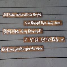 Custom Wedding Signs, Rustic Wedding Decor, Calligraphy Vows on Wood Signs, Wedding Goft with Vows, Hand Painted Wood Signs with Wedding Vow by IvyandOrchid on Etsy