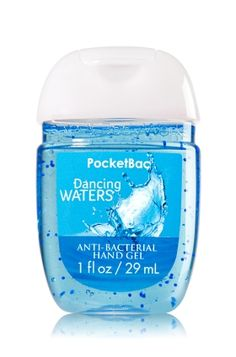 Dancing Waters - PocketBac Sanitizing Hand Gel - Bath & Body Works - Now with more happy! NEW PocketBac is perfectly shaped for pockets & purses, making it easy to fight germs on-the-go! Plus, our all-new skin softening formula contains powerful germ-killers that keep your hands clean & soft.