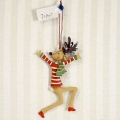 $7.99 I love these Metal Reindeer Ornament -BLITZEN  I am thinking of hanging them all round the house