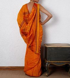 Saffron #Ethnic #Saree
