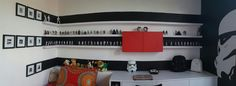 The troopers room #smallroom #storage #toystorage #minifugures #blackwhitered