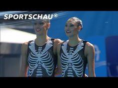Synchronschwimmen: Dramatische Kür im Skelett-Look | Rio 2016 | Sportschau - YouTube