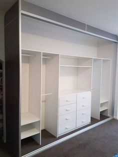 Comfortable and Suitable Wardrobe Design for Big & Small Bedroom – Wardrobe Storage Wardrobe Storage, Bedroom Closet Doors, Home, Closet Layout, Build A Closet, Bedroom Cupboards, Sliding Door Wardrobe Designs, Bedroom Built Ins, Bedroom Closet Design