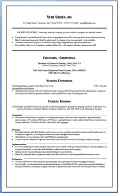 sample new rn resume new graduate nurse resume sample