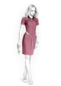 4227 PDF Dress Sewing Pattern - Women Clothes, Personalized for your custom size