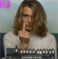 No not acting this one Johnny Depp arrested mug shot