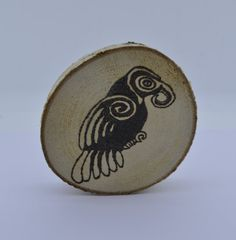 Wooden celtic coaster with an owl. For mug by ArchdeansMagicShop