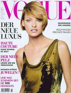 It's that Donna Karan dress again! - Vogue Germany November 1996 - Linda Evangelista
