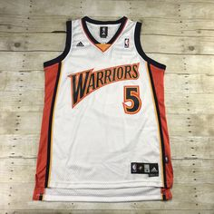 baed1aa39ee Adidas Golden State Warriors #5 Baron Davis Stitched NBA Jersey Mens Size  Medium
