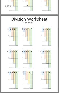 √ Free Math Worksheets Sixth Grade 6 Multiplication Division Multiplication 3 Digits by 3 Digits . 3 Free Math Worksheets Sixth Grade 6 Multiplication Division Multiplication 3 Digits by 3 Digits . Pdf Performance Indicators In Math Implications for Brief Math Division Worksheets, Free Math Worksheets, Math Resources, Division Activities, Division Games, Multiplication Worksheets, Math Tutor, Teaching Math, Calculus