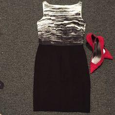 Shift dress Shell: upper part 100% cotton lower part 62% rayon 33% nylon 5% spandex Lining: 100% acetate Ann Taylor Dresses