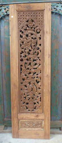 Balinese Rare Unique Antique Original Condition Wooden Door Panel Bed Head