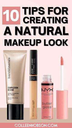 "Learn how to create a natural ""no makeup"" makeup look that's effortlessly beautiful. #naturalmakeup #tutorial Simple Makeup Tips, Natural Makeup Tips, Beauty Makeup Tips, Beauty Products, Bare Minerals Makeup, Natural Everyday Makeup, Makeup Order, Learn Makeup, Makeup Tutorial For Beginners"