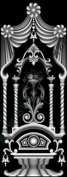 full panel door design Carving Designs, Stencil Designs, Zbrush, Alpha Art, Grayscale Image, 3d Cnc, 3d Mesh, Cnc Wood, 3d Laser