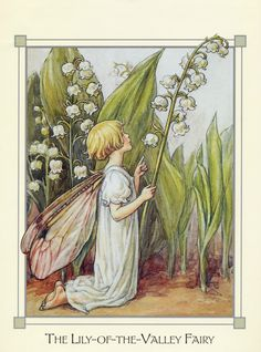 Lily-of-the-Valley Fairy 1/2. Sorry - for some reason the site wouldn't let me pin the floss chart so click through to original source for floss chart.