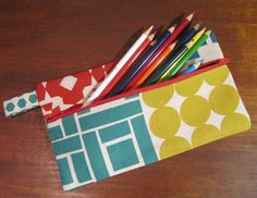 Front Zip Pencil Pouches in 4 sizes << Sew, Mama, Sew