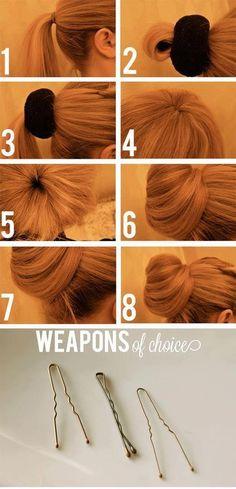 14 Cheveux Attachés, Beaux Cheveux, Cheveux Coiffure, Tuto Coiffure,  Coiffure Facile, 2fb8cb54262