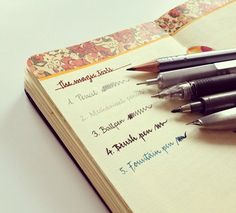 Seaweed Kisses: The Journal Diaries-  Love the idea of pretty headers in a moleskine ♥