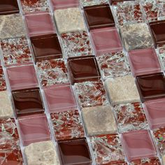 Kitchen Stone Tile Ice Crack Crystal Glass Tiles Backsplash Brown Bathroom Floor Tiles Wall Mosaic Art Swimming Pool Tile BL23012