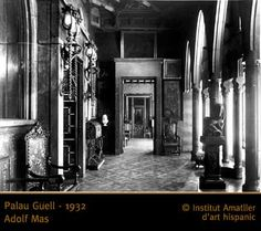 Palau Guell - 1932 Antoni Gaudi, City Aesthetic, Cubism, Stained Glass, Art Nouveau, Religion, Architecture, Nature, Modern