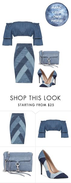 """""""Friday Night Blues"""" by kimberlydalessandro ❤ liked on Polyvore featuring BCBGMAXAZRIA, WearAll, Rebecca Minkoff and ALDO"""