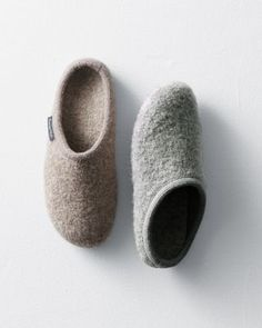 Haflinger Classic Boiled Wool Slippers in grey :)