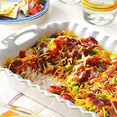 Cheddar-Bacon Dip Recipe from Taste of Home -- shared by Carol Werkman of Neerlandia, Alberta