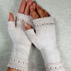 Fingerless gloves with pearls - frost paws - arm warmers and knot pockets Fingerless gauntlets for women, knitted hand warmers with pearls made of wool (organic merino), noble fingerless gloves,. Crochet Gloves, Knit Mittens, Knitting Socks, Mitten Gloves, Baby Knitting, Knit Crochet, Mens Knitted Scarf, Knitted Headband, Leg Warmers For Women