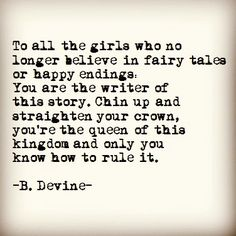 Needed this...sure don't believe in fairytales anymore...