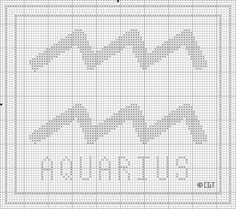Stitch this free Zodiac Cross Stitch pattern for yourself or your favorite Aquarius.