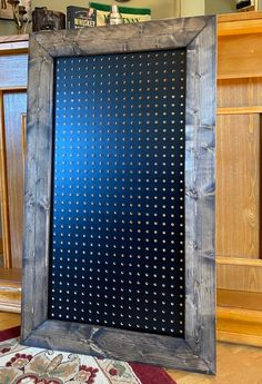 Pegboard Nursery, Pegboard Craft Room, Black Pegboard, Minwax Colors, Living Room Decor, Bedroom Decor, Wooden Chest, Night Lamps, Hunter Green
