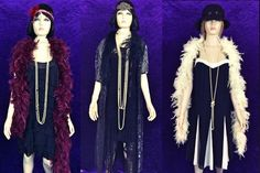Glam or plain? We have hats, beads, robes, stoles and boas Costume Hire, Costumes, Bugsy Malone, Prop Hire, Stage Show, Showgirls, Suits, Dresses, Boas