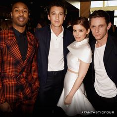 Michael B Jordan, Miles Teller, Kate Mara and Jamie Bell joined together to present as the Fantastic Four at the MTV Movie Awards