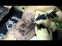 tattoo_процесс нанесения татуировки_ череп.wmv