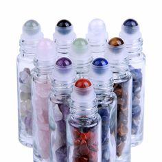 10ml Gemstone Glass Roller Bottles (10 Pack)