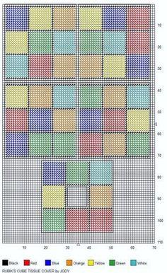 Plastic Canvas Rubic Cube Box Pattern