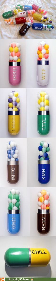 Packaging Design Better Living Through Chemistry. Contemporary Capsule Sculptures by Edie Nadelhaft.