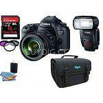 Canon EOS 5D Mark III 22.3MP Full Frame DSLR Camera + 24-105mm L Lens + Speedlite 600EX-RT Flash + 32GB SanDisk Extreme 45MB/s Memory Card $4599