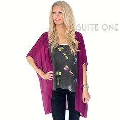 We are loving this Chaser Champagne Tank paired with a bright colored kimono!!  To shop this look from Suite One, just call: 479-434-2318! Only $5 shipping!