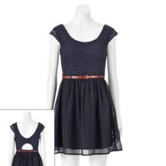 City Triangles Lace Dress - Juniors
