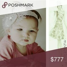 🆕Fancy Feathers Headband Ivory Fancy Feathers Little Girl Headband for 3 month-toddler age. Elastic/Stretchy Brand New Accessories Hair Accessories