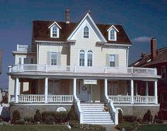 House Styles: 1840-1880: Gothic Revival House (Wood): Steep roofs and windows with pointed arches give these Victorian homes a Gothic flavor.