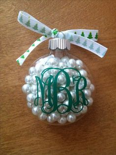 DIY Monogram Christmas Ornament :)