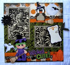 Halloween Scrapbook Page DT Project for Treasure Box Designs