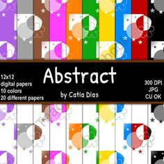 Abstract - 20 Digital Papers from Always a Teacher & Forever a Mom - Clipart on TeachersNotebook.com (20 pages)